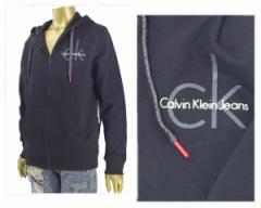カルバンクライン CK FULL ZIP HOODY スウェット フルジップ パーカー メンズ CALVIN KLEIN 【41F5301 ZIP ロゴ】