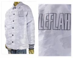 レフラー WANIMA(ワニマ) RAY(レイ) 着用ブランド NYLON COACH JACKET (WHITE CAMO) 薄中綿入り ナイロンコーチジャケット メンズ LEFLAH
