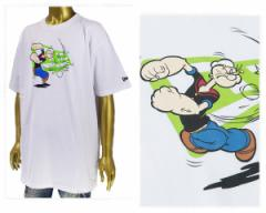 ニューエラ 7.5 オンスのコットン生地 アメリカンコミック ポパイとのコラボ Tシャツ メンズ NEWERA 【11557860 ポパイ】