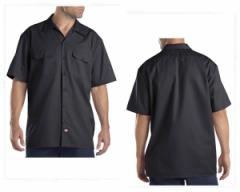 ディッキーズ SHORT SLEEVE WORK 型崩れが少なく破れにくい特性、汚れも落ちやすいストリートファッションとの相性抜群 ワークシャツ メ