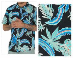 バンズ BLACK PIT STOP FLORAL ヤシの木 サマートロピカル パームツリー オープンシャツ メンズ VANS 【VN0A3HDTRL1 FRS】