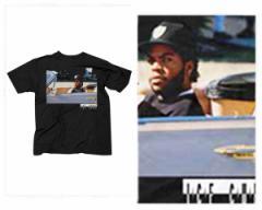 オフィシャル ライセンス 米・カリフォルニア州LA出身 俳優、映画監督、ラッパー Ice Cube アイスキューブ Tシャツ メンズ OFFICIAL LIC