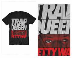 オフィシャル ライセンス FETTY WAP(フェティ・ワップ) USヒップホップ雑誌『XXL』が選んだ注目アーティスト TRAP QUEEN FUTURA Tシャツ