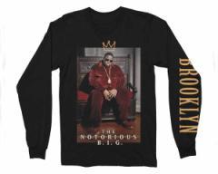 オフィシャル ライセンス USA MT社ライセンス商品 NOTORIOUS B.I.G. CROWN THRONE MENS LS Tシャツ メンズ OFFICIAL LICENSE 【10040137