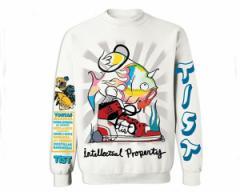 ティストワン ロサンゼルス発信ブランド t-Ace(ティーエース)着用モデル FISH Cewneck Sweatshirts スウェット メンズ TIST ONE 【T1014