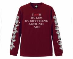 アンドサンズ CASH TEE Wu Tangの曲、?C.R.E.A.M.?からインスパイア Tシャツ L/S メンズ ANDSUNS 【AS186602 CASH】