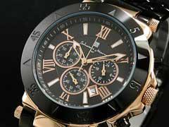 【サルバトーレマーラ】クロノグラフ腕時計SM7019PG-BKBK【送料無料】