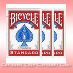 【メール便送料無料】BICYCLE(バイスクル) 808 ライダーバック STANDARD トランプ ポーカーサイズ 赤 3デックシュリンクパック