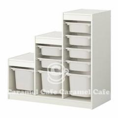 【IKEAイケア】トロファストTROFAST収納コンビネーション, ホワイト, ホワイト(99887302)-9【RCP】