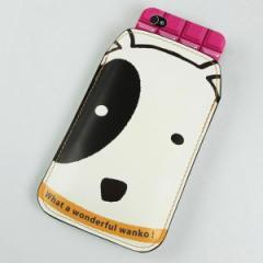 本革(レザー) スマートフォンケース【IA800 わんこ】【Lサイズ】 iPhone5/ARROWS Kiss F-03E/MEDIAS U N-02E 等汎用