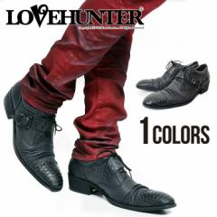 LOVE HUNTER【ラブハンター】ベルト付き レースアップシューズ /全1色 メンズ