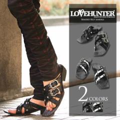 LOVE HUNTER【ラブハンター】アミ ベルト サンダル/全2色(ブラック×ホワイト/ブラック) メンズ