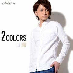 SALE goa リネン混ビエラボタンダウンシャツ/全2色(オフホワイト/キナリ) メンズ