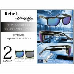 【お取り寄せ商品】【送料無料】RebeL×BlackFlys SWAROVSKI Top RebeL FLYAMI VICE-2/全2色【ご注文から7日〜10日前後】