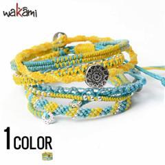wakami【ワカミ】アース 7 ストランド ブレスレット Yellow Cyan /全1色 trend_d メンズ ビター系