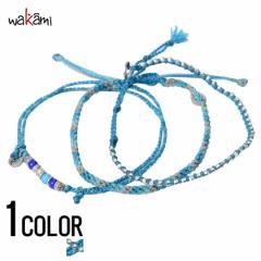 wakami【ワカミ】ストーン アンクレット 3本セット Turquoise /全1色 trend_d メンズ ビター系