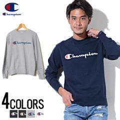 Champion【チャンピオン】フルロゴ クルーネック スウェット シャツ /全4色 trend_d メンズ ビター系 [POUP]