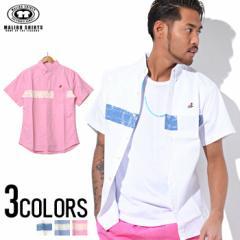 MALIBU SHIRTS【マリブシャツ】プリント ボタンダウン 半袖シャツ /全3色 trend_d メンズ ビター系
