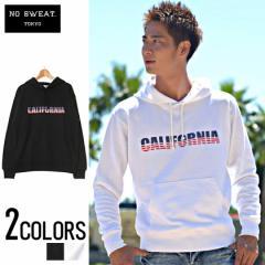 SALE No sweat【ノースウェット】CALIFORNIA ロゴ プリント パーカー /全1色 trend_d メンズ ビター系