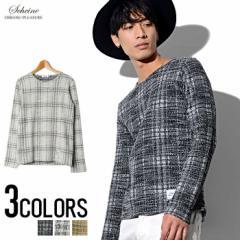 SALE SCHEINE【シャイナ】スフレチェック ロンTEE /全3色 trend_d メンズ ビター系