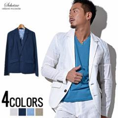 SALE SCHEINE【シャイナ】綿麻 テーラード ジャケット /全4色 trend_d メンズ ビター系