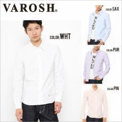 [SALE]VAROSH【ヴァロッシュ】スタンダードオックスシャツ/全4色(ホワイト/ピンク/パープル/サックス) メンズ