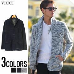 VICCI【ビッチ】スラブ 裏毛 イタリアンカラー ジ...