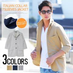 VICCI【ビッチ】スムース イタリアンカラ— 7分袖 ジャケット /全3色 trend_d メンズ ビター系