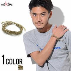 wakami【ワカミ】ライフイズワット スリップノット ストランド ブレスレット /全1色 trend_d メンズ ビター系