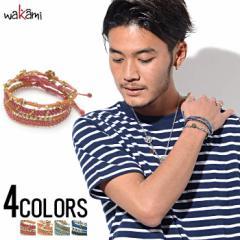 wakami【ワカミ】スター4 ストランド ブレスレット /全4色 trend_d メンズ ビター系