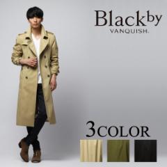 Black by VANQUISH【ブラックバイヴァンキッシュ】 ストレッチツイルマキシトレンチコート