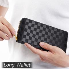 【入荷済】メール便送料無料 財布 長財布 メンズ ラウンドファスナーロングウォレット ラウンドジップ 小銭入れあり ブラック ビジネス