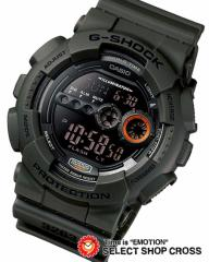 カシオ Gショック ジーショック GD-100MS-3DR ミリタリーテイスト 高輝度LED CASIO G-SHOCK グリーン 海外モデル