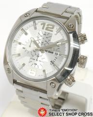 送料無料 ディーゼル DIESEL メンズ 腕時計 DZ4203 クロノグラフ ステンレスベルト シルバー