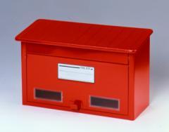 再入荷★ ベーシック 郵便ポスト 鍵穴付き レッド/ホワイト CY-20 #27