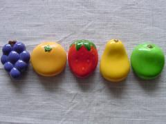 おもしろキッチン雑貨 可愛いフルーツ箸置きセット 果物ハシオキ