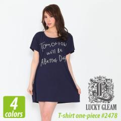 レディース Tシャツワンピース #2478 LUCKY GLEAM プリント sst-c lady