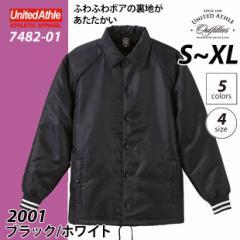 2001 ブラック/ホワイト【送料無料】コーチ ジャケット(ボア裏地付) #7482-01/ S M L XL コート メンズ あたたか oute