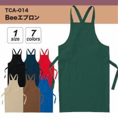 Beeエプロン#TCA-014 フリーサイズ エプロン カジュアル お店 普段使い apr