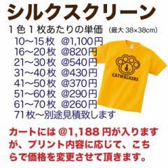 シルクスクリーンプリント クラスTシャツ チームTシャツ 職場 お揃い ユニフォーム オリジナル ロゴ イラスト