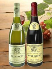 ギフトBOX付き ギフト2014 ルイ・ジャド ブルゴーニュ 赤白 ワインセット【送料無料】【高品質ワイン】