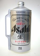 アサヒ スーパードライ ミニ樽 アルミ 2000ml 2L【6個まで1個口配送可能】