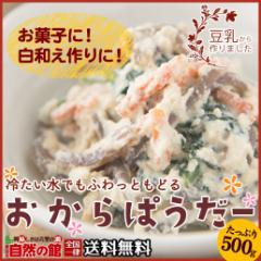 【自然の館】おからパウダー (ドライおから) 500g 送料無料 食物繊維 ダイエット 美肌 大豆