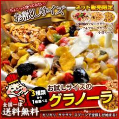 【大麦配合】3種類から選べるグラノーラ 送料無料 大麦グラノーラ 大麦 おおむぎ ダイエット