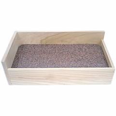 ストーンベッドスーパーL/天然石 ひんやり クール 夏 涼感 冷える 涼しい 木製 保冷材 小動物 プレーリー チンチラ フェレット