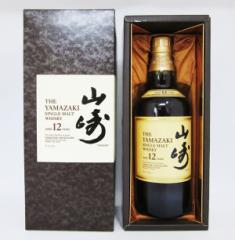 【レトロ】サントリー シングルモルト ウイスキー 山崎 12年 43度 700ml (ブラウン専用化粧箱入り)