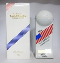 【レトロ】カミュ ナポレオン 1984年 ロサンゼルス五輪 陶器ボトル 40度 700ml (専用BOX入り)