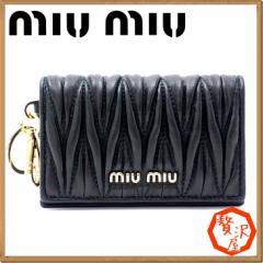 ミュウミュウ カードケース miumiu マテラッセ MATELASSE NERO ブラック 黒 5MC407-2BPU-F0002【lug_b】【lug_new】【lug_pic】