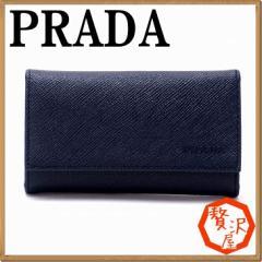 プラダ PRADA キーケース キーリング 6連 BALTICO 黒 サフィアーノレザー 2PG222-PN9-F0216【lug_b】【lug_new】【lug_pic】