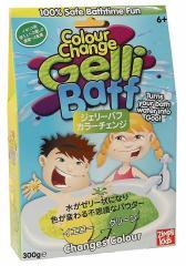 お風呂をゼリー状に 魔法の粉 ジェリーバフ カラーチェンジ Yellow→Green